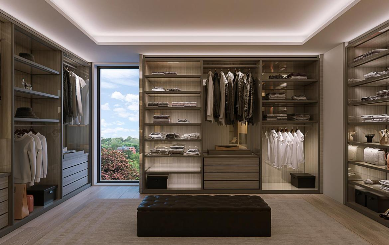 Rendering of 469 Spadina Homes interior walk-in closet.