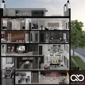 Rendering of 469 Spadina Homes interior layout.