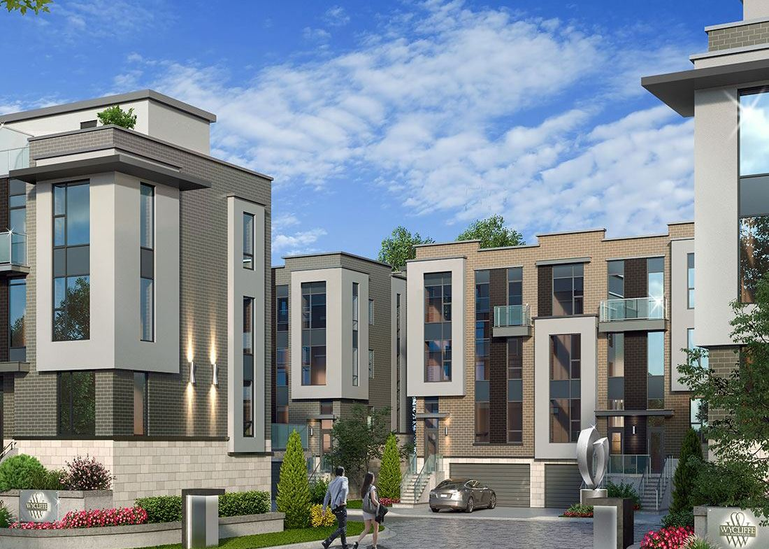 Exterior rendering of the Wycliffe Promenade Towns entrance.