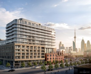 Exterior rendering of Canary House Condos