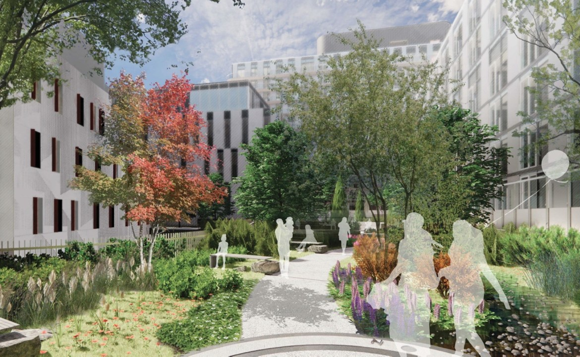Rendering of Canary House park