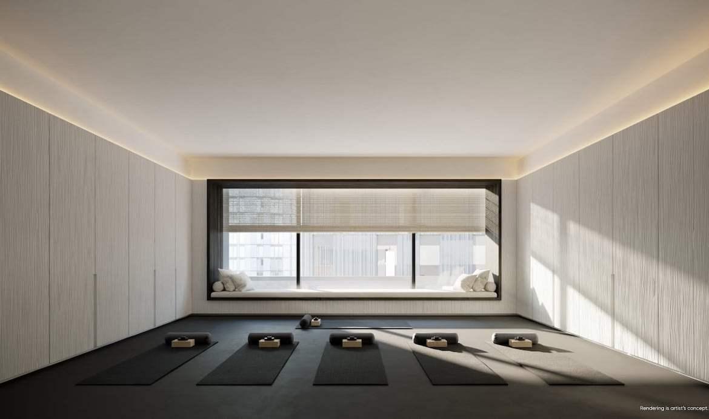 Rendering of Canary House Condos multi-purpose yoga studio