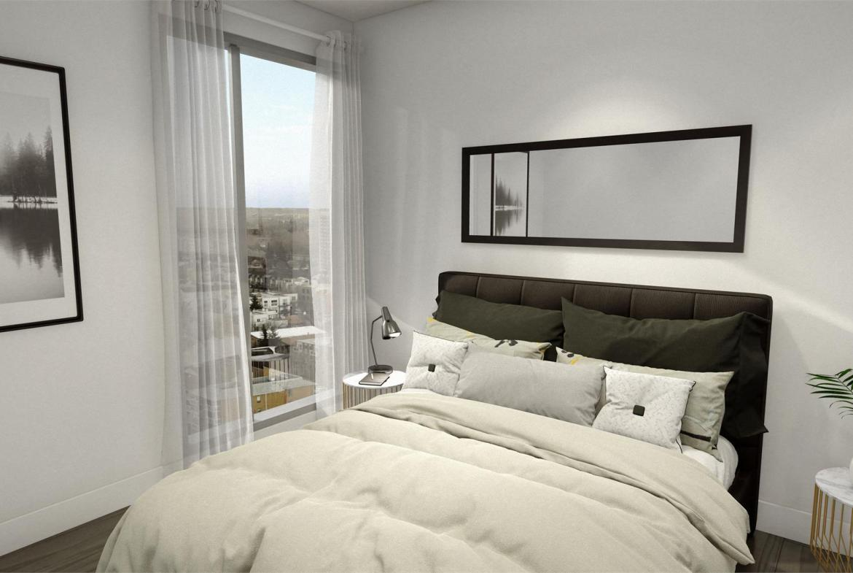 Rendering of Era Condos suite interior bedroom.