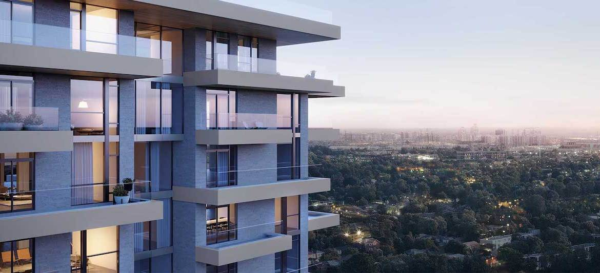 Rendering of Royal Bayview Condos suit terraces.