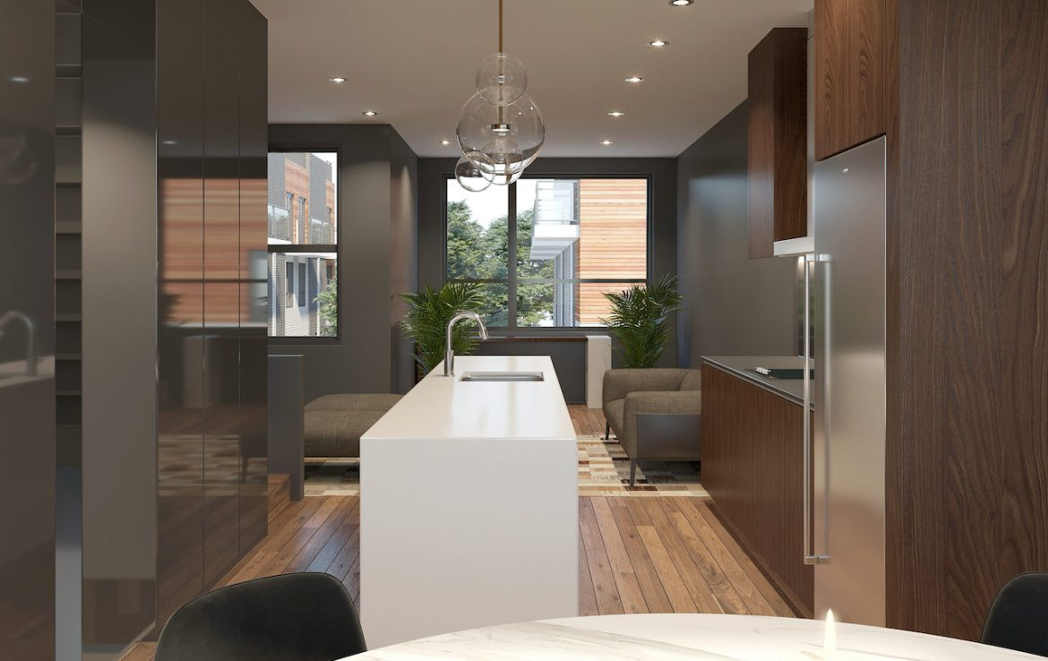 Rendering of Essa Towns interior kitchen.