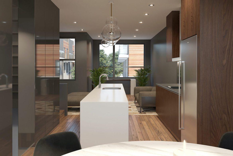 Rendering of Essa Towns interior kitchen.