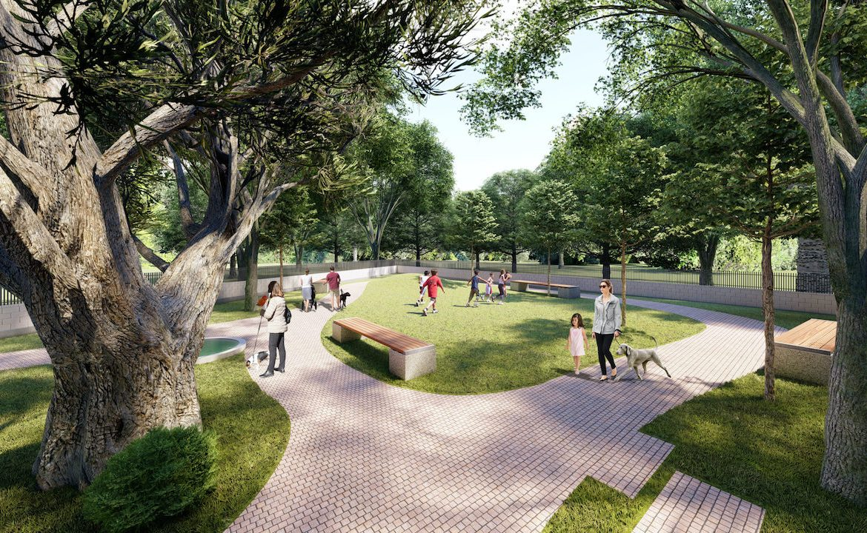 Rendering of Essa Towns Park.