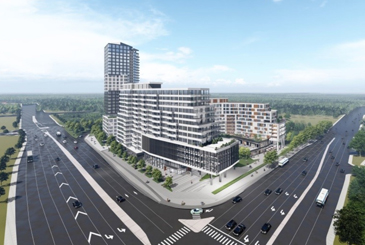 Rendering of 2475 Eglinton Avenue West Condos in Erin Mills, Mississauga.