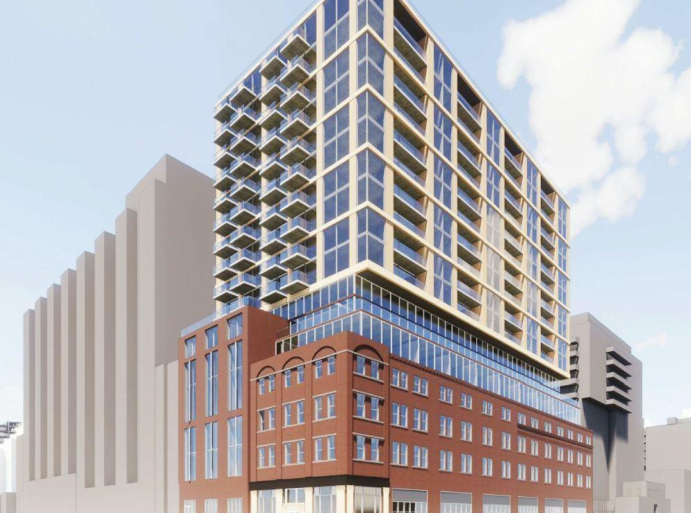 Original rendering of 663 King Street West Condos in Toronto.