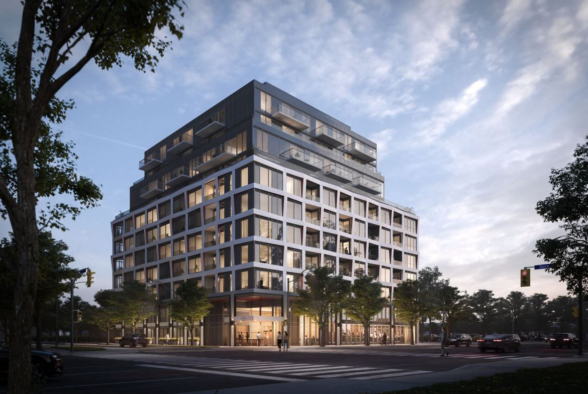 Full exterior rendering of The Tailor Queensway Residences.