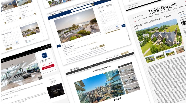 Sotheby's International Realty online advertising.