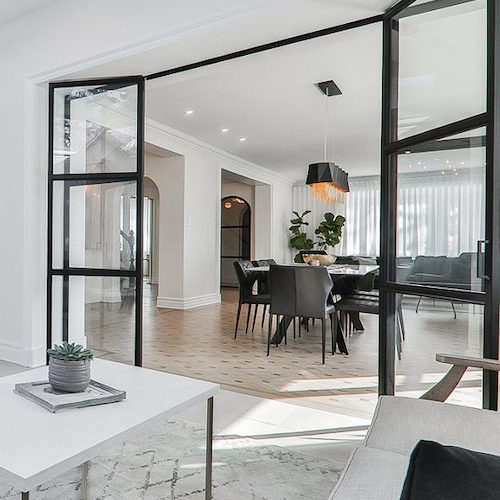 Modern home interior in Outremont, QC.