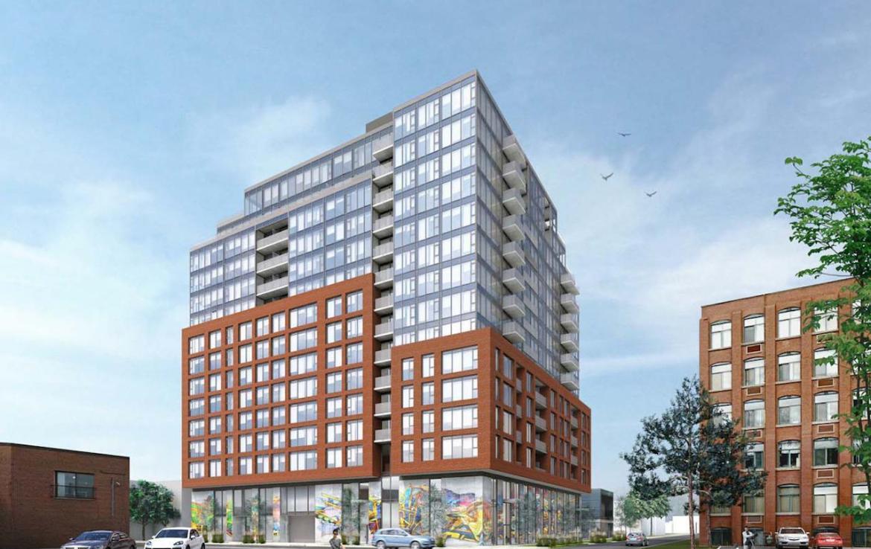 Rendering of 6 Noble Street Condos in Toronto.