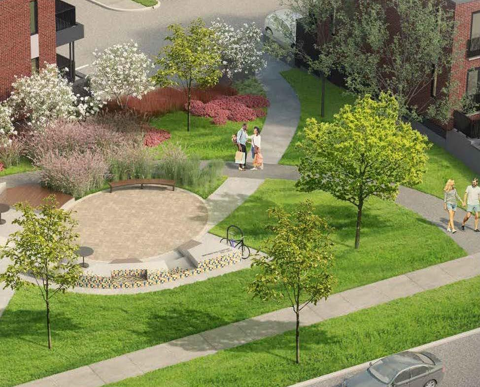 Rendering of Spur Line Common Courtyard