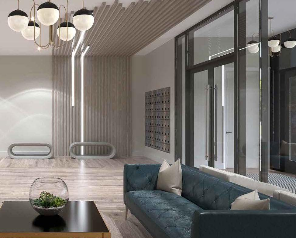 Rendering of Spur Line Common lobby