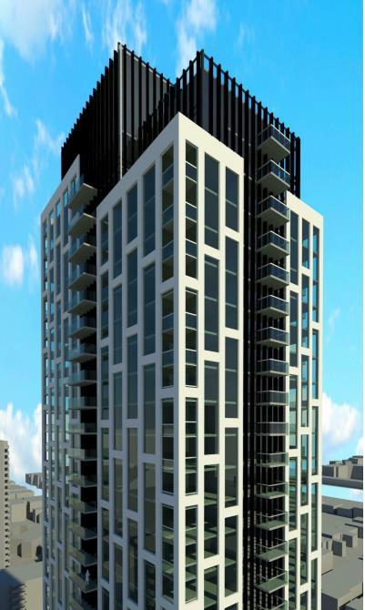 Rendering of 65 Raglan Avenue Condos upper floors exterior