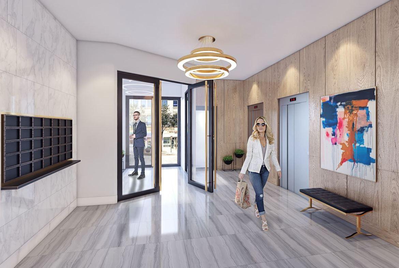 Rendering of the Harrington Residences Lobby