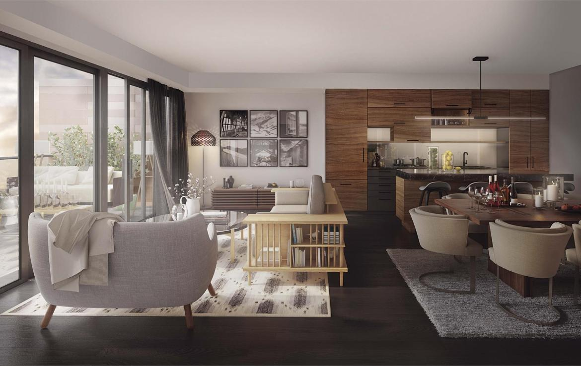 Rendering of Heartwood the Beach Condos suite interior