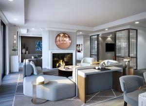 Rendering of 10 Prince Arthur Condos living room.