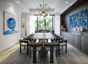 Rendering of 10 Prince Arthur Condos dining room.