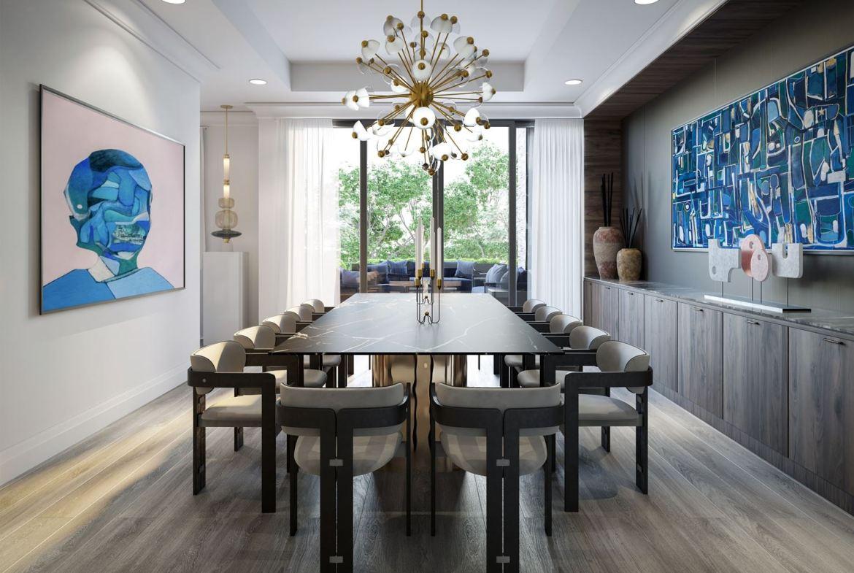 Rendering of 10 Prince Arthur Condos dining room.