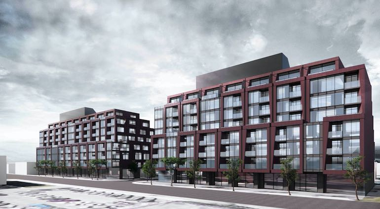 Exterior rendering of 126 Laird Condos in East York, Toronto