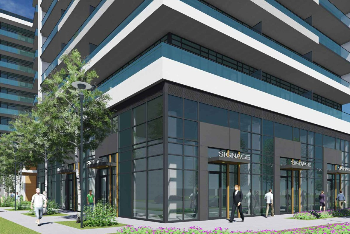 Rendering of 2699 Keele Street Condos ground-level retail.