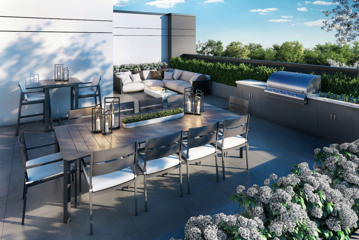 Rendering of The Butler Condos rooftop.