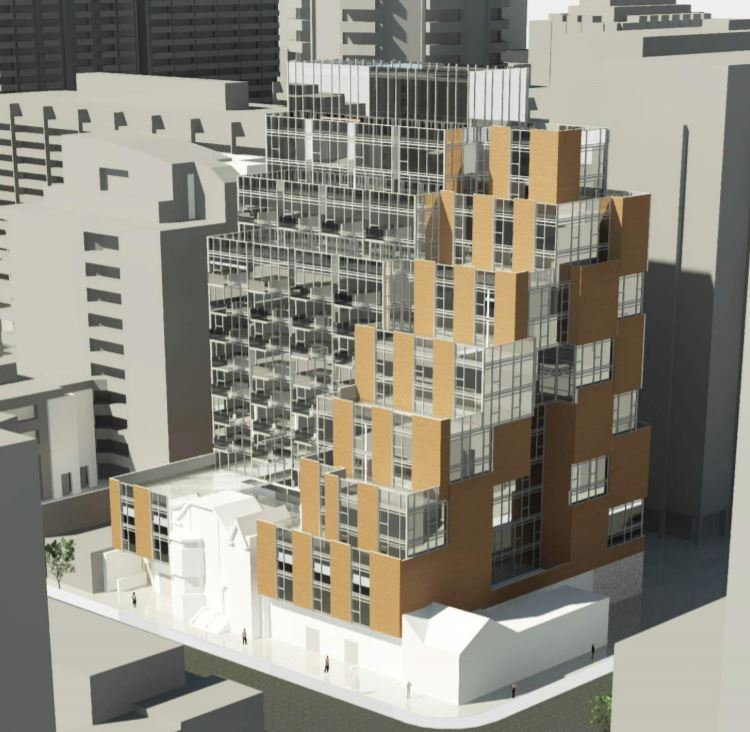 Rendering of 506 Church Street Condos partial front and side view