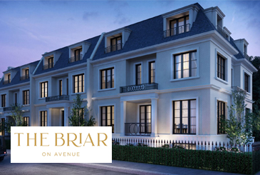 The Briar on Avenue townhomes in Toronto by Plaza Corp. Developments.