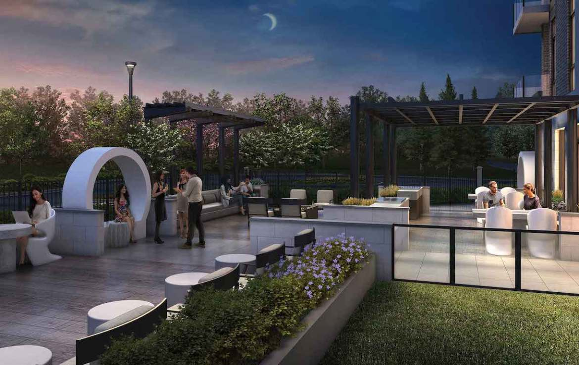 Rendering of 42 Mill St Condos terrace