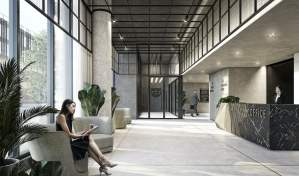 Rendering of Grand Central Mimico lobby