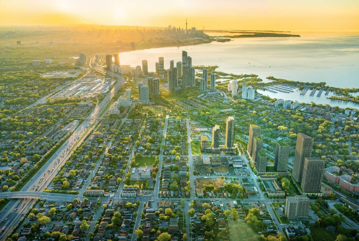 Rendering of Grand Central Mimico aerial overview