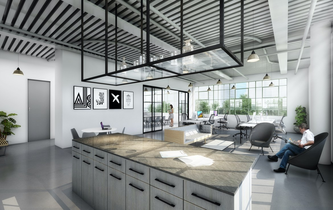 Rendering of Geary Factory Lofts interior suite 0910.