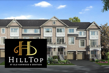 Hilltop at Old Harwood & Grayson in Ajax by Your Home Developments.