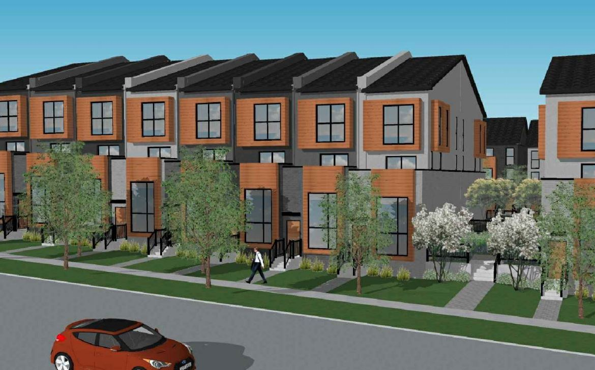 Exterior rendering of 448 Markham Road Towns