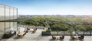 Rendering of Perch Condos rooftop terrace