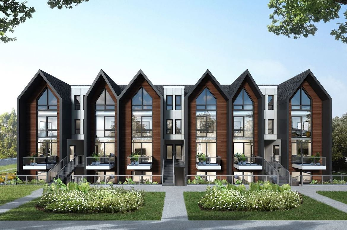 Exterior rendering of The Boho Condos front-facing.