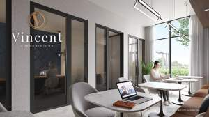 Rendering of Vincent Condos co-working space