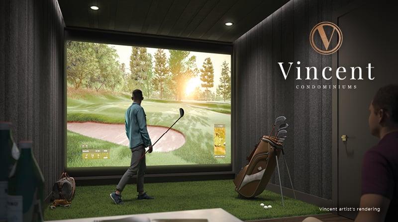 Rendering of Vincent Condos indoor golf