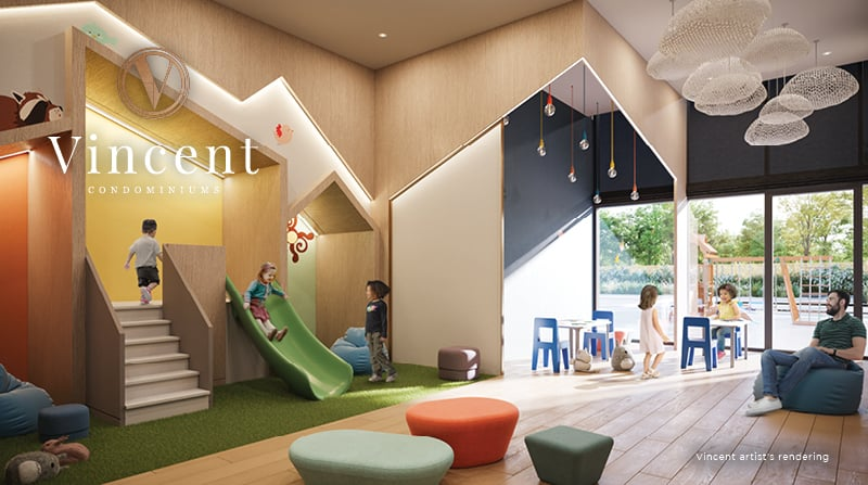 Rendering of Vincent Condos kids play area