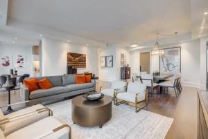 Ten York 66th Floor Signature Suite living room.