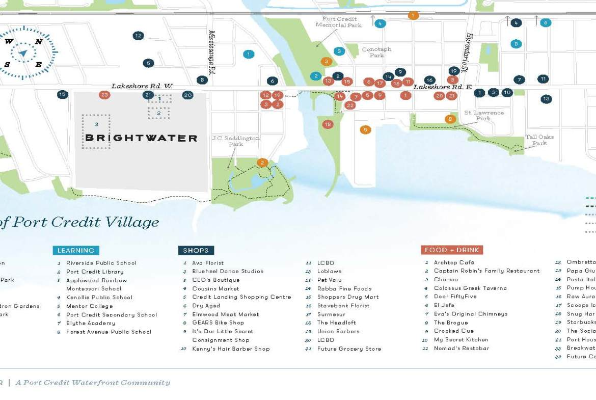 Brightwater Towns area map
