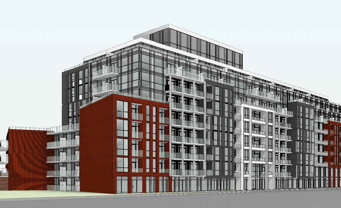 Exterior rendering of 1615 Kingston Road Condos angle 1.