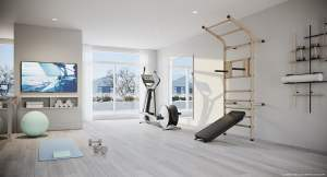 Rendering of Brightwater Towns interior gym