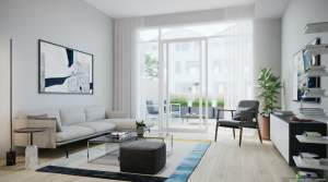Rendering of Brightwater Towns interior living room