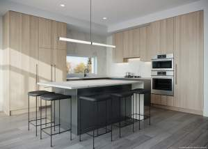 Rendering of Brightwater Towns spring kitchen