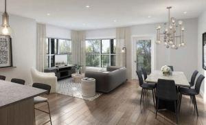 Rendering of Lackner Ridge Condos suite living room.