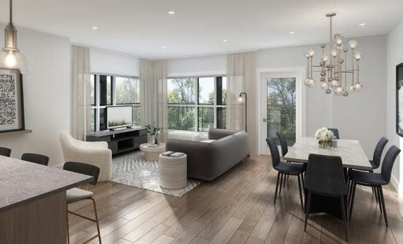 Rendering of Lackner Ridge Condos suite living room.