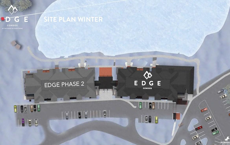 Edge Condos At Horseshoe site plan winter